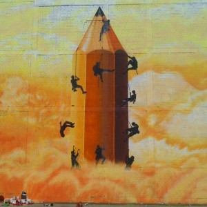 Foto mural O lapis do grafiteiro, 4 de 11