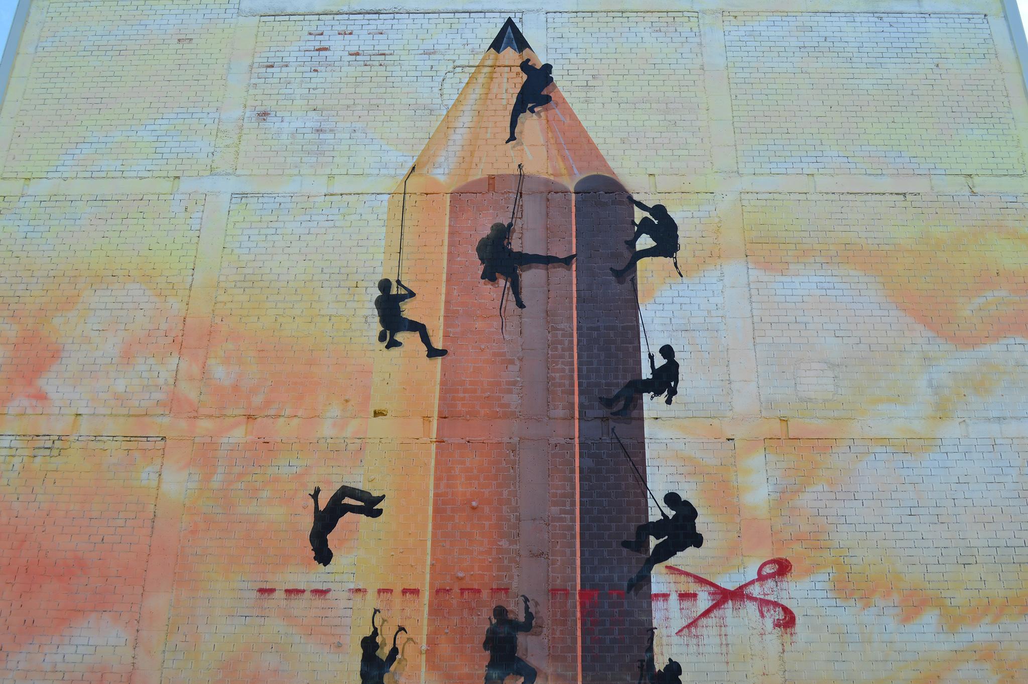 Foto principal mural O lapis do grafiteiro