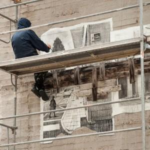 Foto mural Tachar as pintadas dunha rúa, 11 de 25