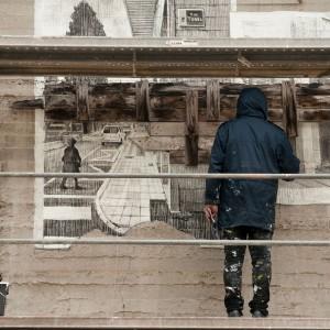 Foto mural Tachar as pintadas dunha rúa, 3 de 25