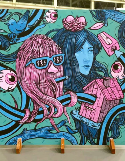 Mural de Sokram para la MIMOC