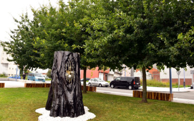 "New piece of urban art for Carballo: ""Alén"" or ""Great beyond"""