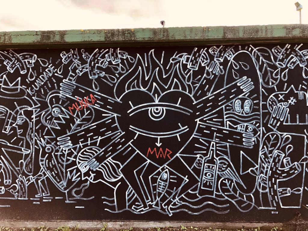 Mural Razo - Derrubando Muros 2019
