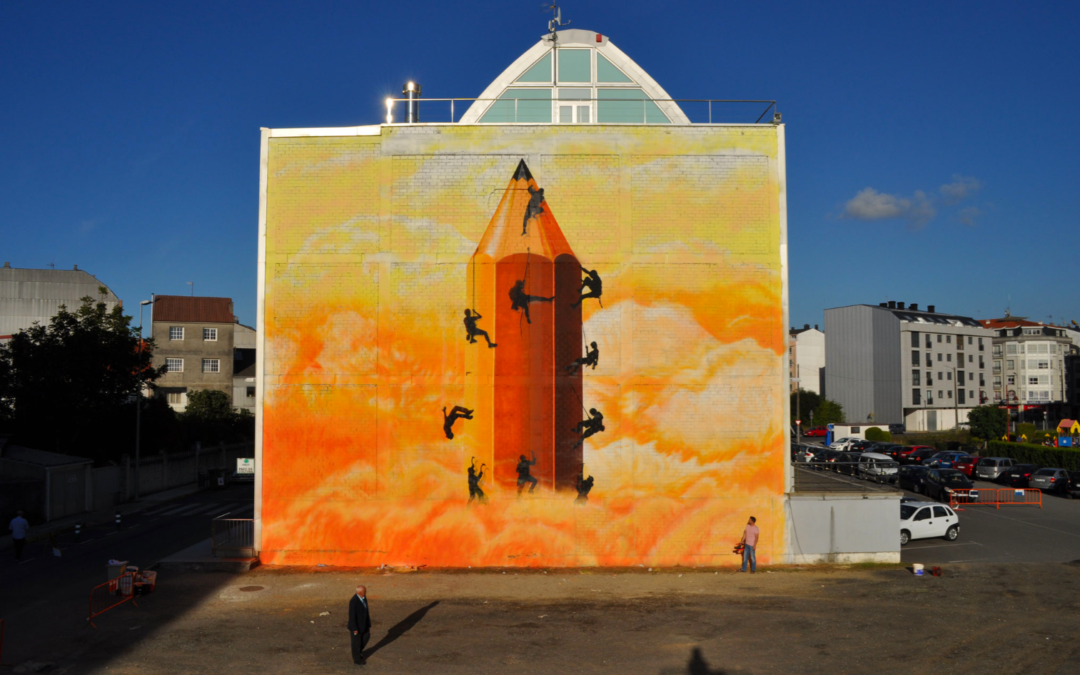 Sokram paints again in Carballo at the Rexenera Fest
