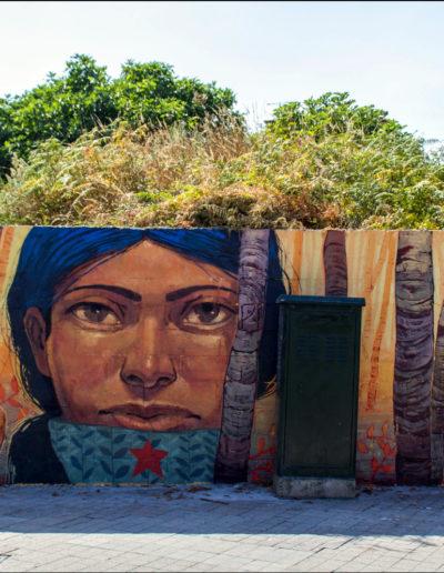 Mural de Xoana Almar e Miguel Peralta