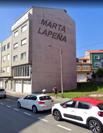Mural de Marta Lapeña: Rúa Fábrica 49