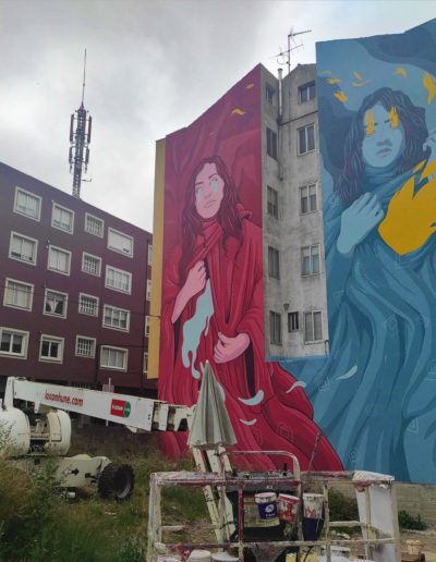 Mural de MØU - en proceso