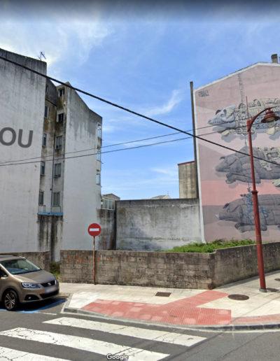 Mural de Mou - Rúa Rosalía de Castro